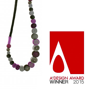 "The necklace was awarded the A' Design Award in 2014 and is part of the ""Exclusive Collection"". Designed and handmade by Katerina Glinou."