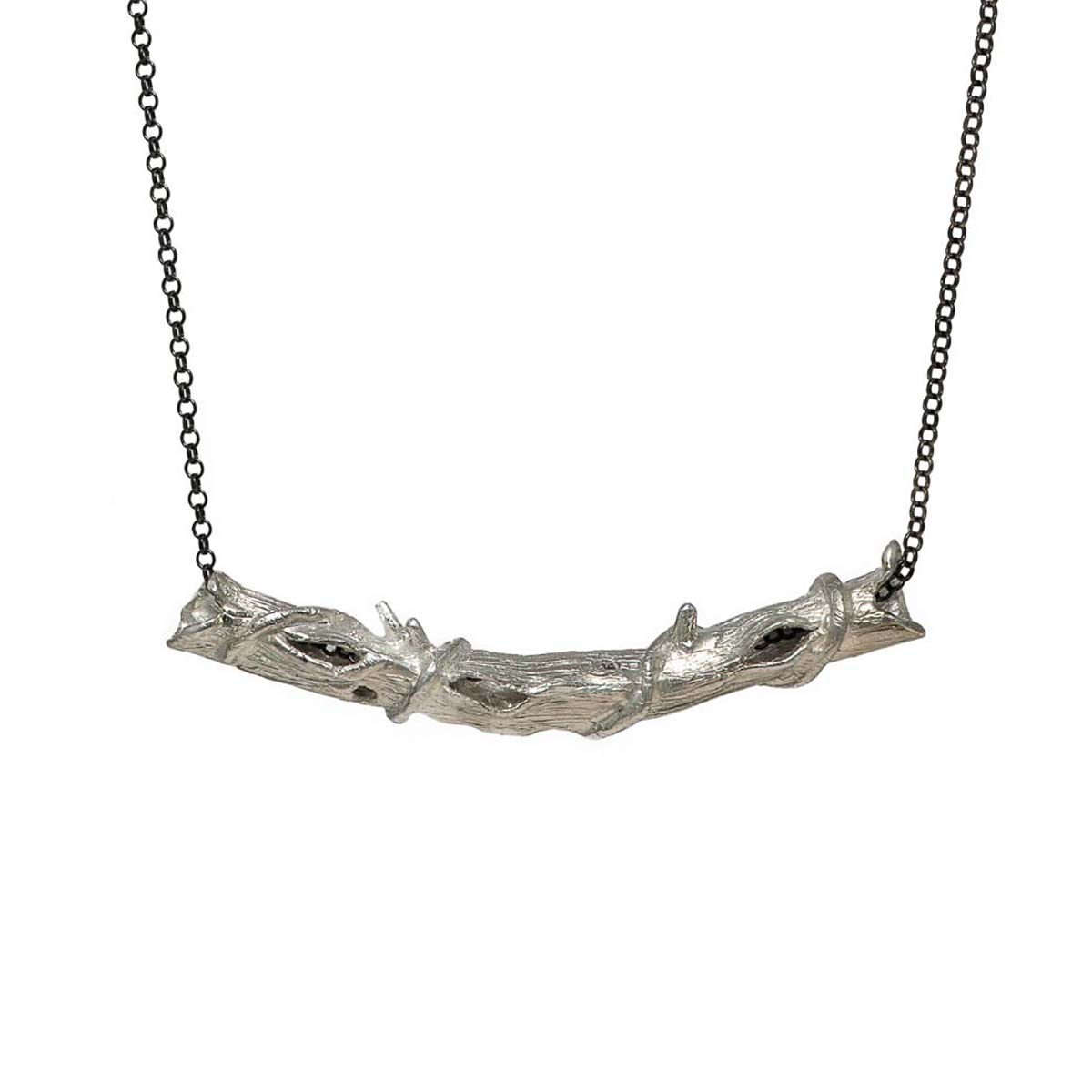 """The """"Branches"""" design are part of the """"Imaginary Nature"""" jewelry collection. Branches jewelry is hand sculptured on wax and casted into sterling silver."""