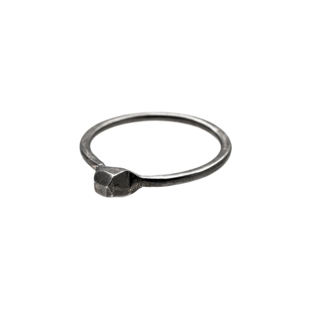 Black silver ring by Katerina Glinou