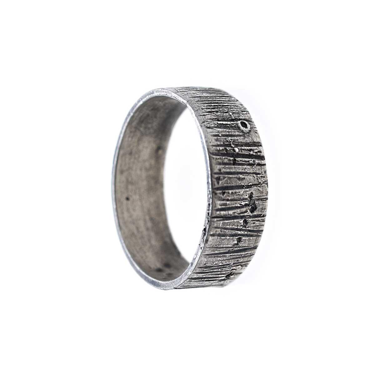 Silver ring handmade by Katerina Glinou