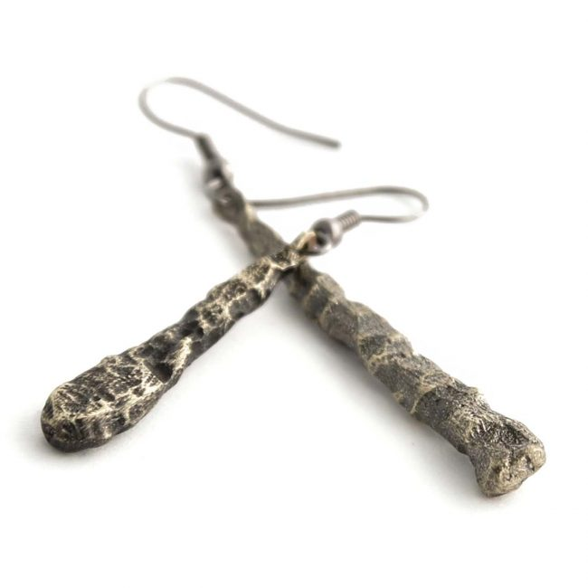 """The """"Rocks"""" design is part of the """"Imaginary Nature"""" jewelry collection. Rocks jewelry is available in sterling silver and bronze, oxidized and polished."""