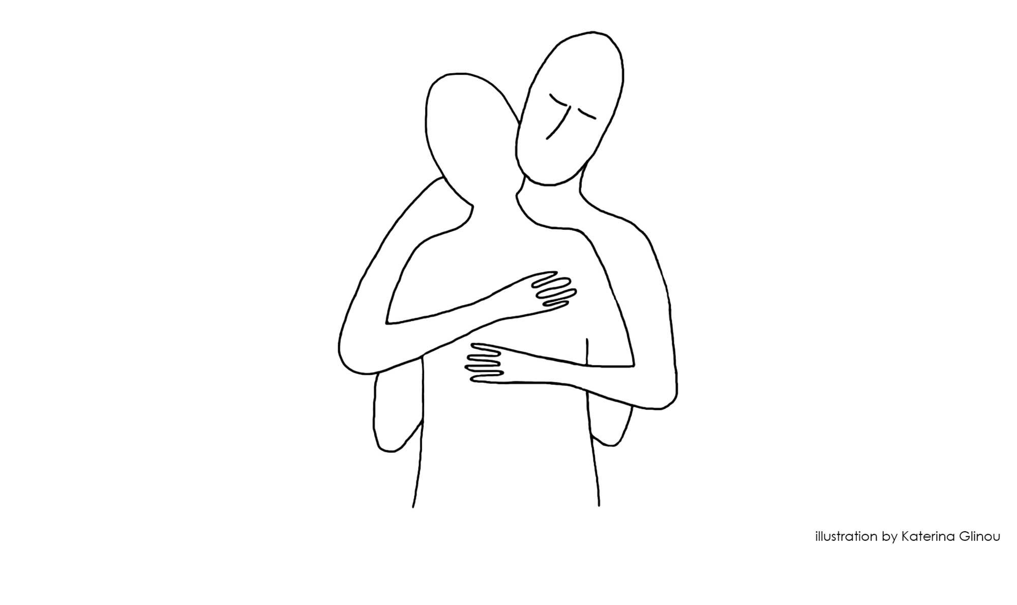 The Hug - Illustration Katerina Glinou