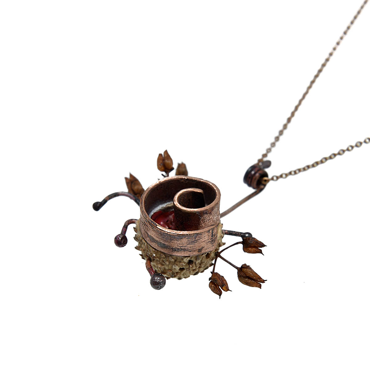"""Pendant from the """"Soul Garden"""" collection. Designed and handmade by Katerina Glinou"""