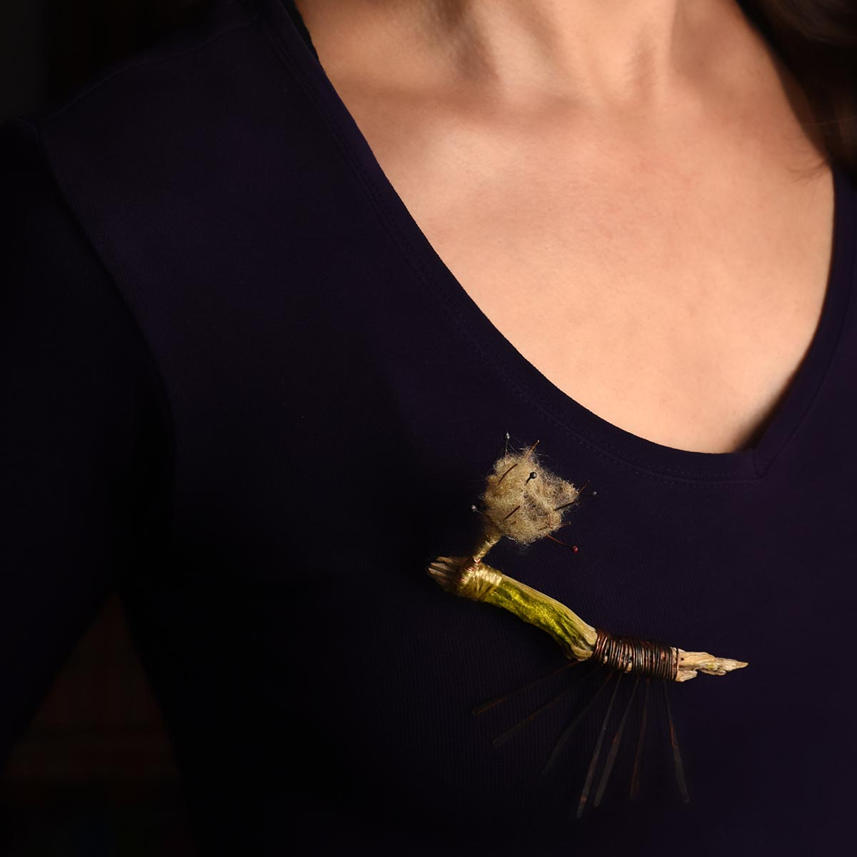 """Moss Brooch from """"Soul Garden"""" collection. Designed and made by Katerina Glinou."""