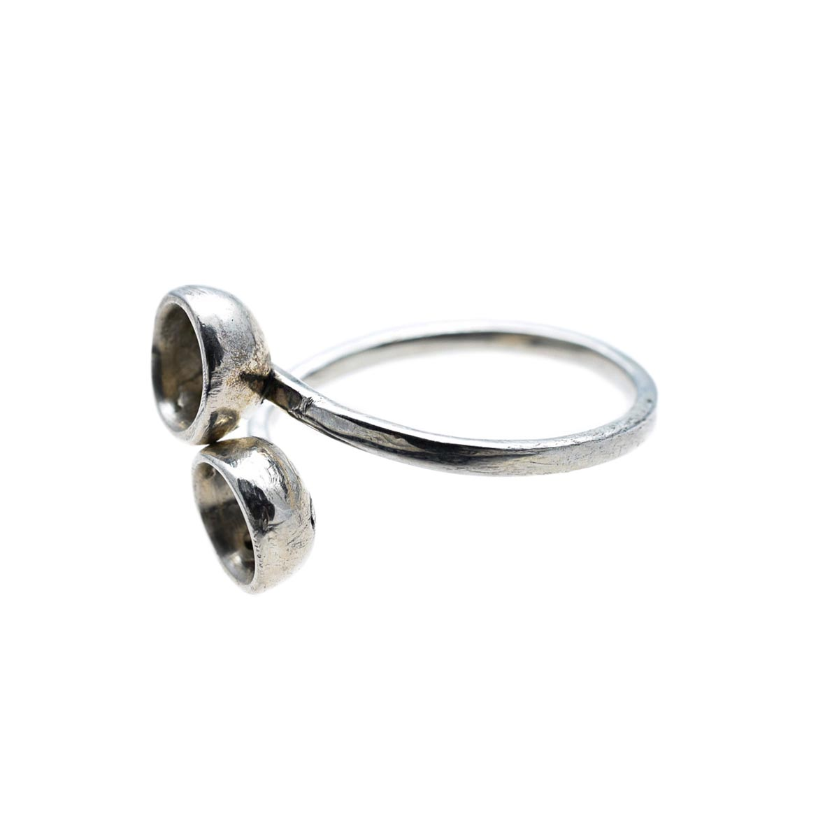 Silver ring designed and made by Katerina Glinou